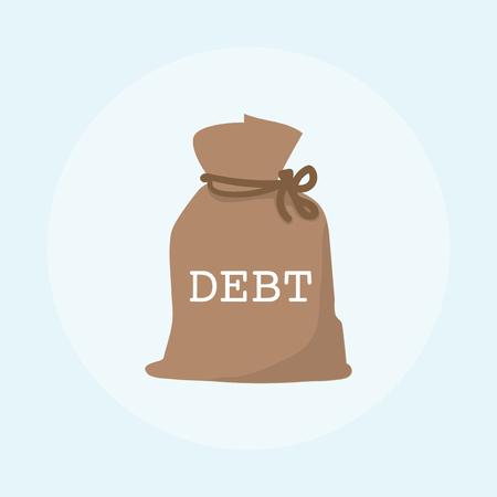 Illustration of debt financial concept