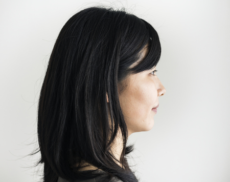 スタジオで撮影アジアの民族女性の肖像画 写真素材
