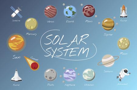 Il sistema solare vettore Archivio Fotografico - 98003354