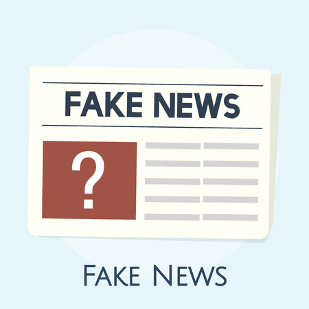 Illustration of fake news concept