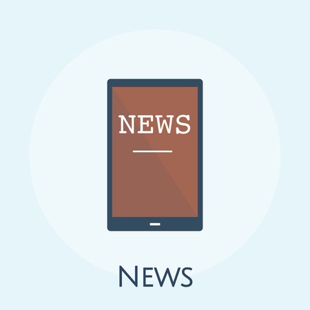 Illustration of online news concept Stock Photo