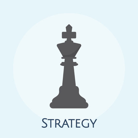 Illustration of business strategy concept