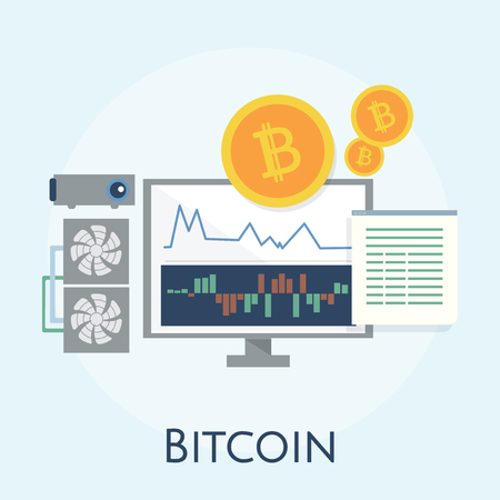 Illustration of bitcoin concept Stock fotó - 98003487