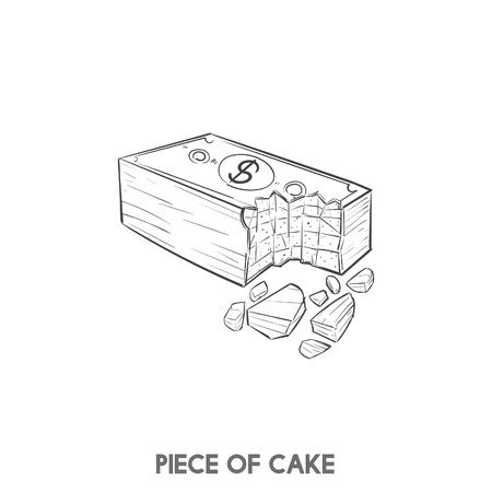 ケーキ一枚