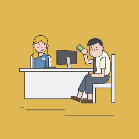 Illustration of banking service