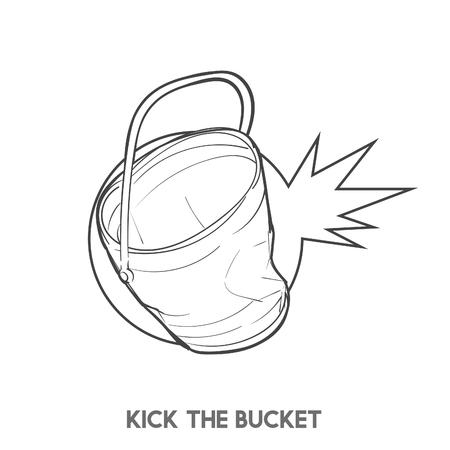 Kick le seau Banque d'images - 98004111