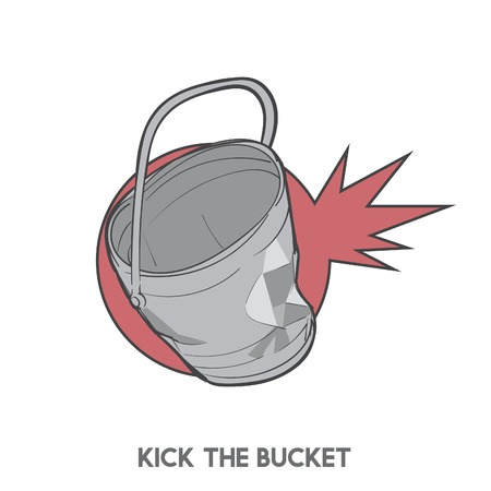 Kick the bucket Stock Photo