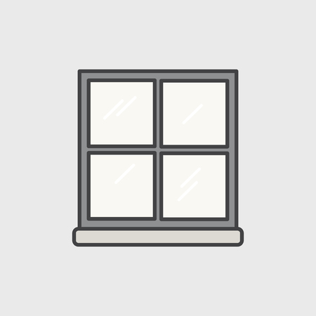 Illustration of office window icon Фото со стока
