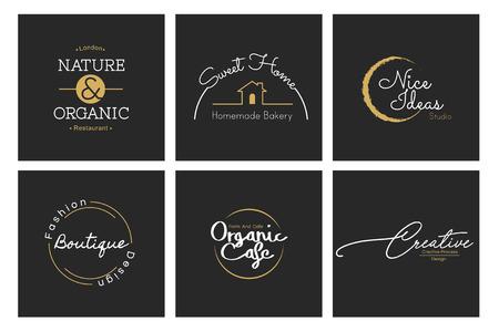 Illustration of business shop logo stamp banner 版權商用圖片