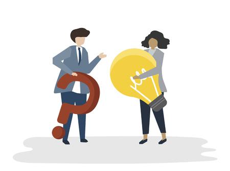 Illustration of people avatar business plan concept Фото со стока