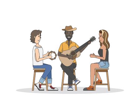 Trio of musicians performing