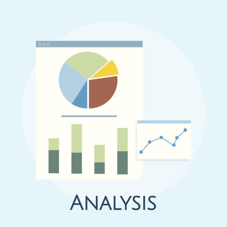 Illustration of business graph analysis Stock Photo