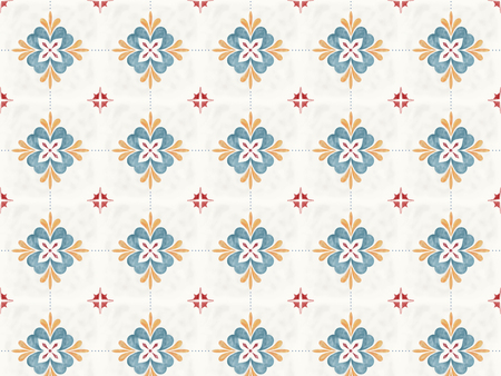 Illustration of tiles textured pattern