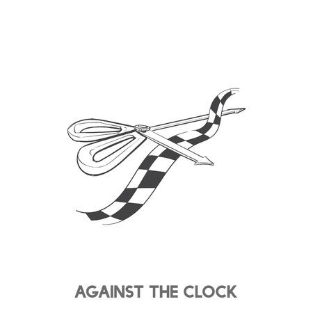 Contro il cronometro vettore idioma Archivio Fotografico - 98005462