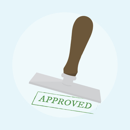 Illustration of approved stamp 版權商用圖片