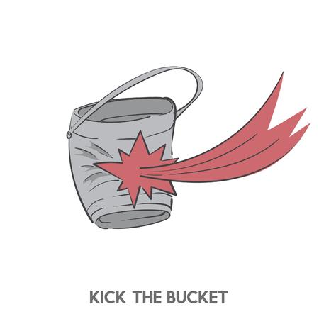Kick le seau Banque d'images - 98005961