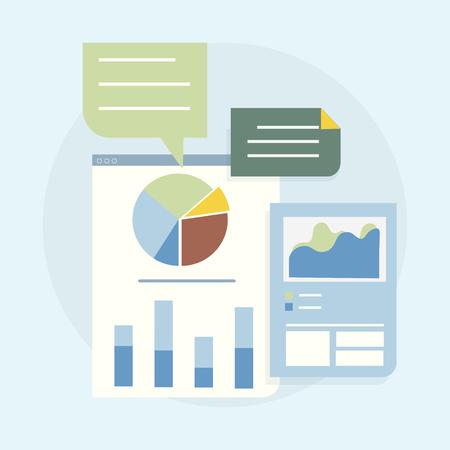 Illustration of business graph analysis 版權商用圖片