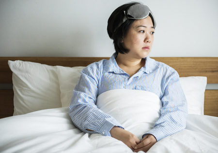 A woman waking up 版權商用圖片