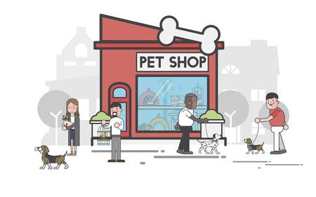 Illustration set of pet shop Stok Fotoğraf - 98007254