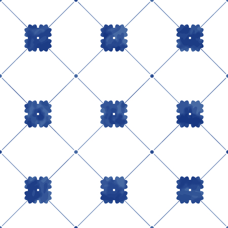 Illustration of tiles textured pattern Stock fotó - 98007271