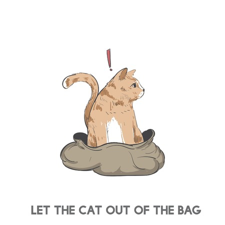 Let the cat out of the bag Banco de Imagens