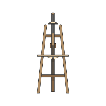 Canvas stand or an easel illustration