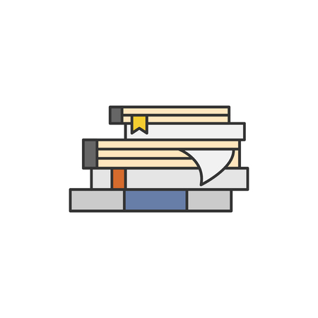 Illustration of a book stack Imagens