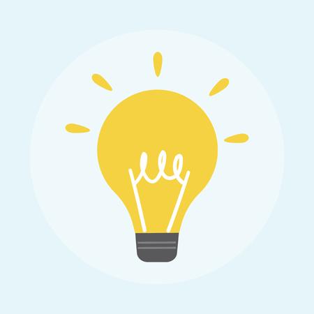 Illustration of light bulb icon Archivio Fotografico - 98007888