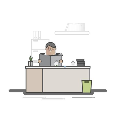 Illustration of business people avatar 版權商用圖片