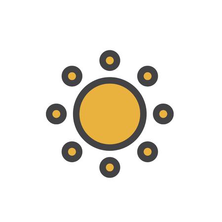 Sun icon Stok Fotoğraf