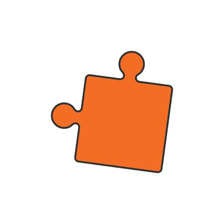 Illustration of a jigsaw puzzle piece