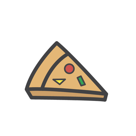 Illustration of pizza 스톡 콘텐츠