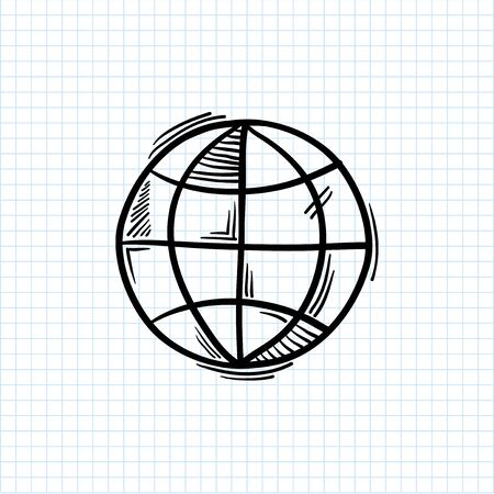 Illustration of global symbol isolated on background