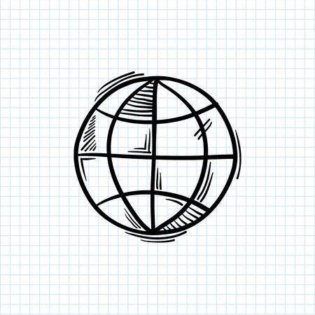 Illustration of global symbol isolated on background