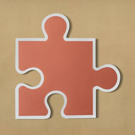 Jigsaw puzzle piece strategy icon 스톡 콘텐츠