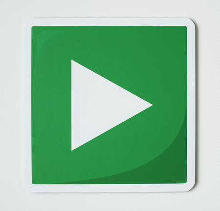 Play media sign technology icon Stock Photo