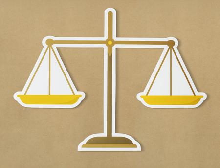 CHelle juridique de justice icône Banque d'images - 98014544