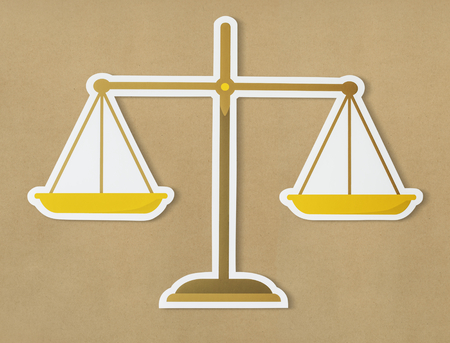 Legal scale of justice icon 版權商用圖片