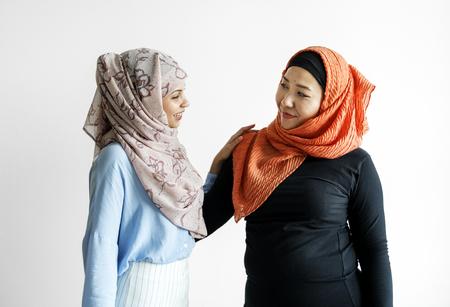 Protrait of two muslim women