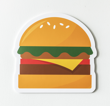 Cheesebuerger fast food icon graphic