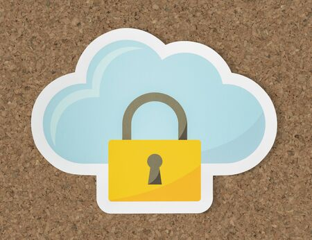 Cloud security icon technology symbol