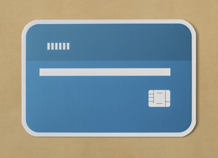 Credit debit bank card icon Stock Photo