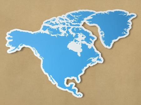 Mapa en blanco de américa del norte Foto de archivo - 98042818