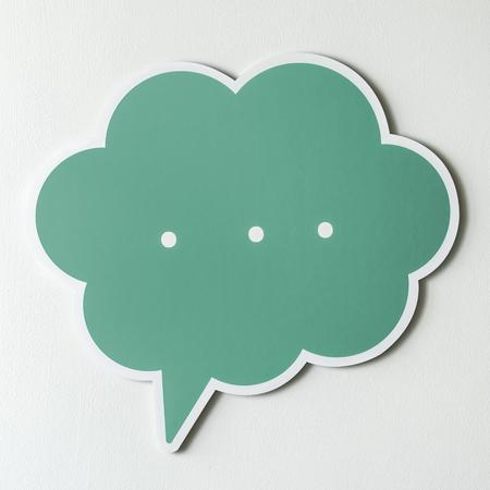 Speech bubble cut out icon