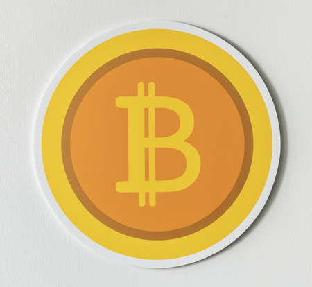 Golden bitcoin cryptocurrency icon isolated Stock Photo