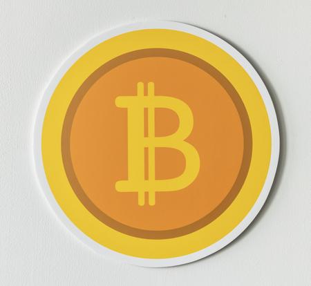 Golden Bitcoin cryptocurrency Symbol isoliert Standard-Bild - 98041453