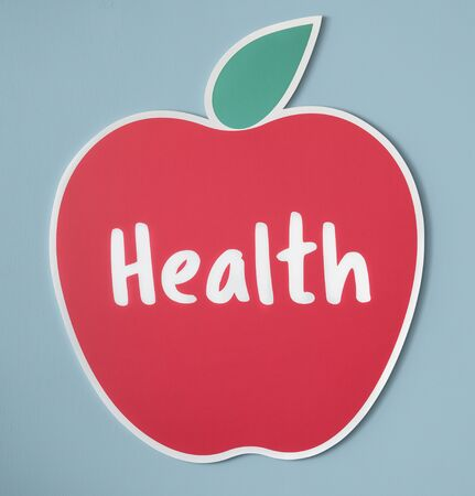 Good health fresh apple icon Stock Photo
