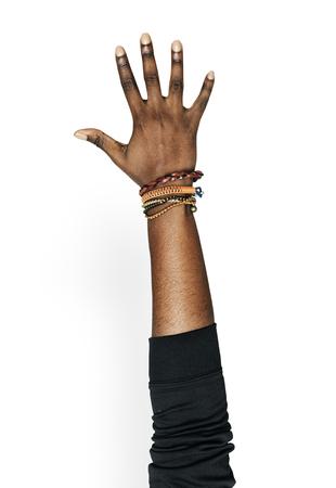 Hand hält Variation von Objekt