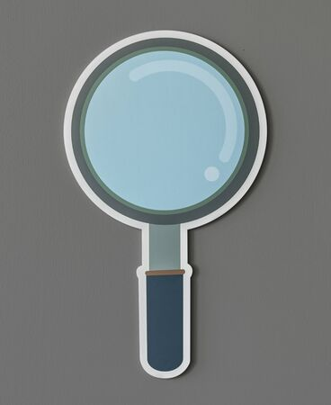 Magnifying glass search icon isolated Imagens - 98041179