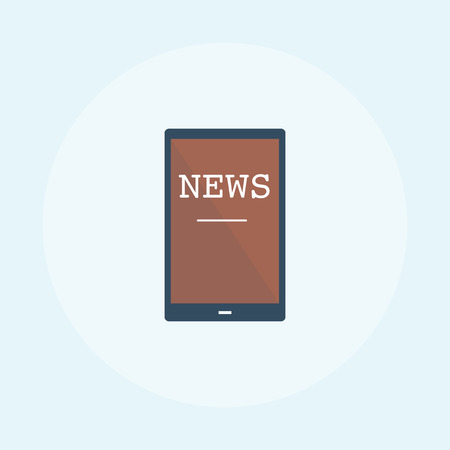 Illustration of online news concept Stockfoto